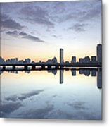 Why So Quiet Boston Metal Print