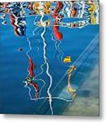 Wibbly Wobbly Flagpole Reflections Metal Print