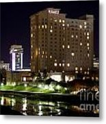 Wichita Hyatt Along The Arkansas River Metal Print