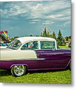 Wicked 1955 Chevy Profile Metal Print