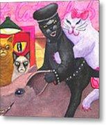 Wicked Kitty's Hog Metal Print