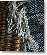 Wicker And Wool Metal Print