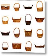 Wicker Basket Collection Metal Print