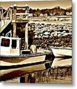 Wickford Marina Metal Print