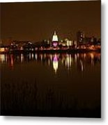 Wide Shot Of The City Skyline Metal Print