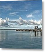 Wide View Of Kingscote Bay Metal Print