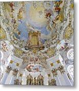 Wieskirche Organ And Ceiling Metal Print