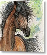 Wieza Wiatrow Polish Arabian Mare Watercolor Painting  Metal Print