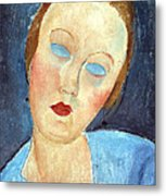 Wife Of The Painter Survage Metal Print by Amedeo Modigliani