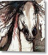 Wild Arabian Horse Metal Print