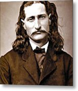 Wild Bill Hickok Painterly Metal Print by Daniel Hagerman