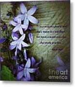 Wild Blue Flowers And Innocence 2 Metal Print