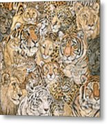 Wild Cat Spread Metal Print