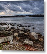 Wild Clouds On The Lake Metal Print