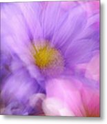 Wild Crazy Daisy Abstract Metal Print