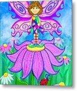 Wild Flower Fairy  Metal Print