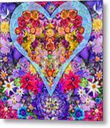 Wild Flower Heart Metal Print by Alixandra Mullins