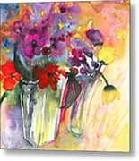 Wild Flowers Bouquets 02 Metal Print