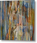 Wild Horses Abstract Metal Print