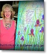 Wild Iris Collage At Glasshopper Gifts Show Metal Print