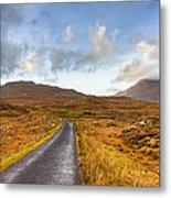 Wild Landscape Of Connemara Ireland Metal Print