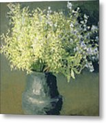 Wild Lilacs And Forget Me Nots Metal Print by Isaak Ilyich Levitan