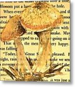 Wild Mushrooms Warm And Subtle Metal Print