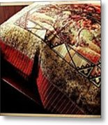 Wild Mustangs On A Quilt Metal Print by Barbara Griffin