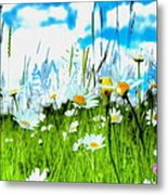 Wild Ones - Daisy Meadow Metal Print