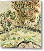 Wild Rhododendrons Near The River Metal Print
