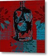 Wild Still Life - 0101a - Red Metal Print