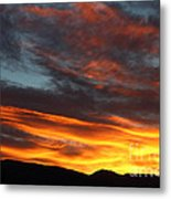 Wild Sunrise Over The Mountains Metal Print
