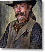 Wild West Cowboy Metal Print