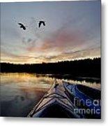 Wilderness Lake Sunset Metal Print