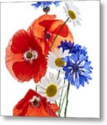 Wildflower Arrangement Metal Print