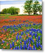 Wildflower Tapestry Metal Print