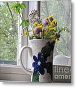 Wildflowers In Vase Metal Print