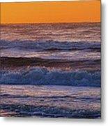Wildwood Beach Golden Sky Metal Print