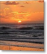 Wildwood Beach Here Comes The Sun Metal Print