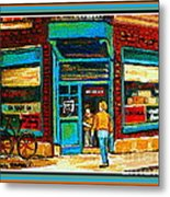 Wilenskys Art Famous Blue Door Posters Prints Cards Originals Commission Montreal Painting Cspandau  Metal Print
