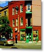 Wilenskys Famous Light Lunch Diner Corner Clark And Fairmount Montreal City Scene Carole Spandau Metal Print