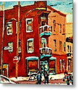Wilenskys Hockey Art Paintings Originals Commissions Prints Montreal Deps Street Art Carole Spandau  Metal Print