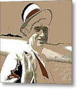 Will Rogers Informal Portrait Unknown Photographer Or Location 1924-2014  Metal Print