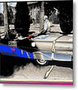 Will Rogers  Jr. Grand Marshall With Polo Mallet Tucson Arizona University Of Az Centennial  1985 Metal Print