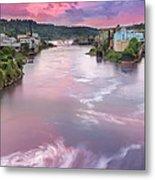 Willamette Falls During Sunset Metal Print