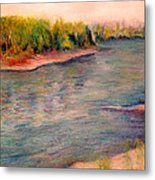 Willamette River Reflections - Morning Light Metal Print