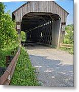 Willard Covered Bridge North Hartland Vermont Metal Print