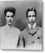 William And Cecilie, C1905 Metal Print