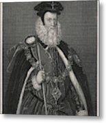 William Cecil Lord Burghley  Statesman Metal Print
