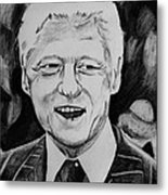 William Jefferson Clinton Metal Print by Jeremy Moore